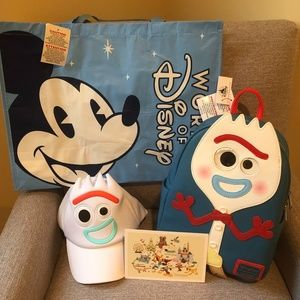 Bundle! Forky Loungefly Bag Forky Hat, Tote, Card
